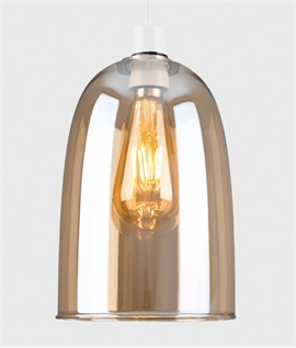 Coloured Glass Dome Shade - Amber, Smoke or Blue