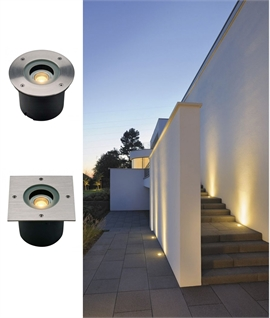 Pro HD Compact LED Recessed Ground Uplights - 316 Grade Stainless Steel