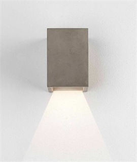 Concrete Cube Wall Fixed Downlight & LED Lamp