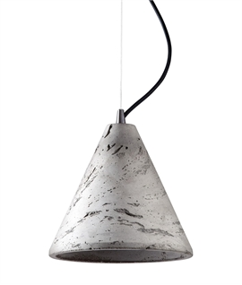 Concrete Conical Single Pendant - Two Sizes