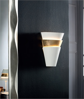 Layered Funnel-Shaped Wall Light with Gold Leaf Detail