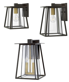 Contemporary Exterior Wall Hanging Lantern - Glazed