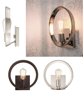 Contemporary Round Single Lamp Wall Light