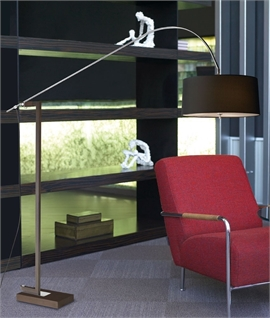 Contemporary Chrome Extendable Floor Lamp with Shade