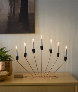 Contemporary Fan Effect Christmas Candlestick