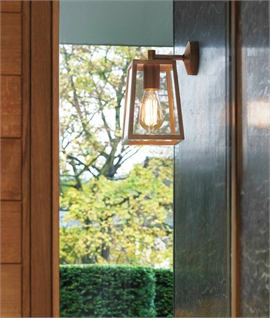Contemporary 4-Pane Square Bracket Lantern - Exterior Wall Light