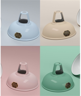 Coolicon Enamel Steel Lamp Shades - Pastel Colours