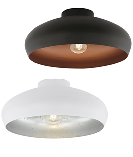 Ceiling Fixed Decorative Light - Black & Copper or White & Silver