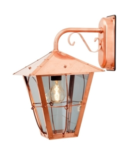 Pure Copper Bracket Hung Wall Lantern