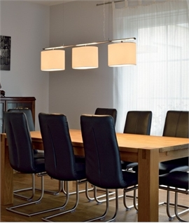 ... Bar Pendant Light With 3 Textile Shades