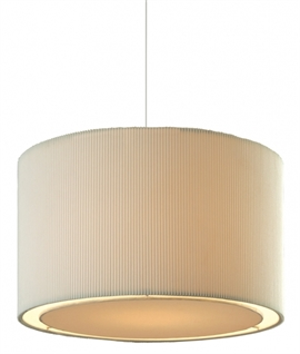 Non-Electric Fabric Pendant with Diffuser