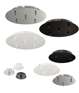 Round Ceiling Plate - Hang 1, 3 or 5 Pendants