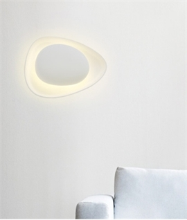 Oval Plaster Wall Light Backlit Design