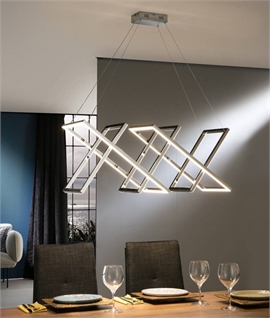 Criss-Cross LED Wide Pendant - 2 Finishes