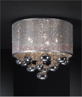 Flush mounted drum pendants lighting styles chrome mesh semi flush drum baubles aloadofball