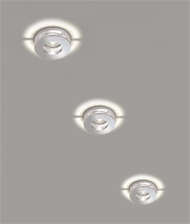 Decorative Glass and Chrome Downlight IP65