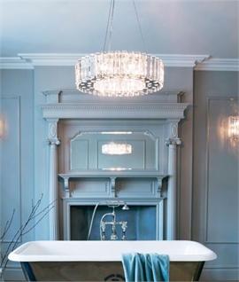 Bathroom lights fixtures lighting styles crystal prism chrome bathroom pendants mozeypictures Choice Image