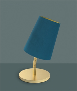 Flexible Stem Table Lamp with Velvet Shade