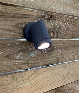Dark Grey Exterior LED Adjustable Spotlight