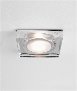 Square Mains Decorative Glass Shower Downlight