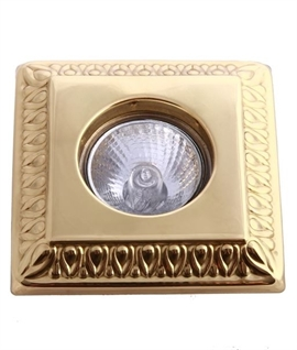 Decorative Embossed Patterned Square Downlight