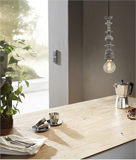 Decorative Wooden Bare Bulb Pendant