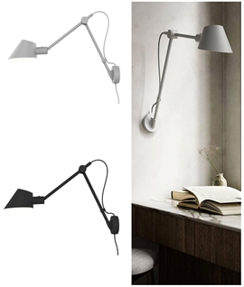 Long Reach Adjustable Wall Light