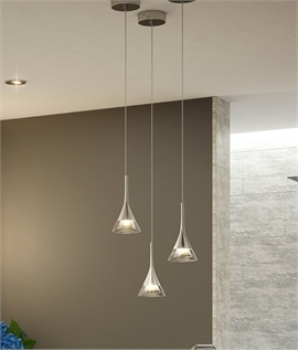 Crystal Cone LED Bathroom Pendant - IP44