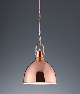 Stylish Metal Chain Link Pendant Copper or Satin Nickel