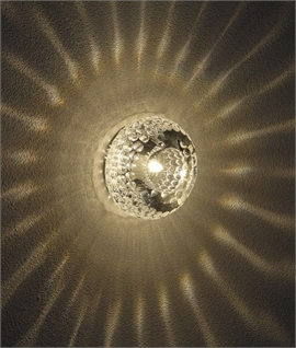 Dimpled Crystal & Steel Downlight