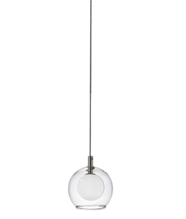 Double Ball Hanging Light Pendant - Single
