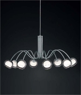 Modern Chrome Double Ball Chandelier - Two Sizes