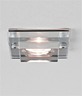 Square Glass LED Downlight IP65 Rated