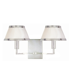 Polished Nickel Double Wall Light with Cream Shade