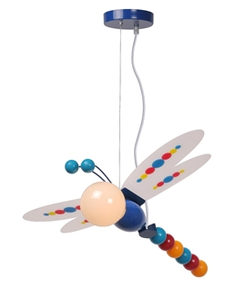 Multi-Coloured Childrens Dragonfly Pendant