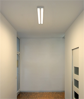 Surface Mounted Twin Fluorescent Ceiling Light - 1190mm