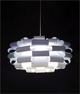 White Looped Cloud Designer Pendant - Kerdil-312 by Dyberg Larsen