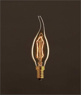 E14 Flame Tipped Candle Filament Lamp