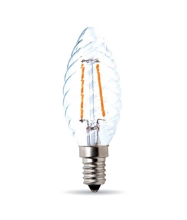 E14 4w Clear Twisted LED Candle Lamp