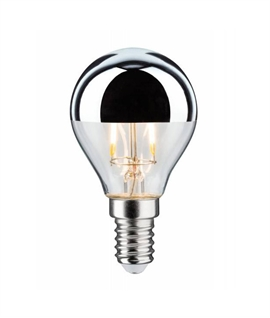 E14 2.5 watt LED Silver Crown Golf Ball Lamp