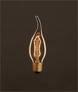 E27 30w Flame Tipped Candle Filament Lamp