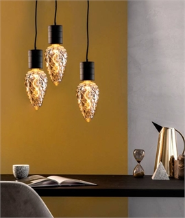 E27 4 Watt LED Smoked Pinecone Lamp