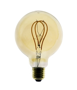 E27 95mm 5w LED Globe Golden Lamp with Loop Filament