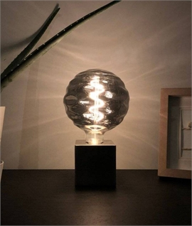 E27 Rippled 125mm Globe Lamp 4w LED
