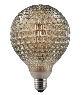 Designer E27 2w LED Filament Lamp - Engraved
