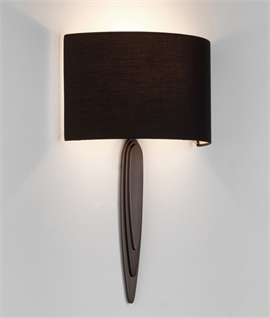 Elongated Bracket Wall Light with Curved Shade