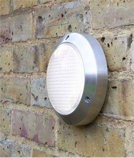 Energy Saving Outdoor Wall Light in Polished Aluminium