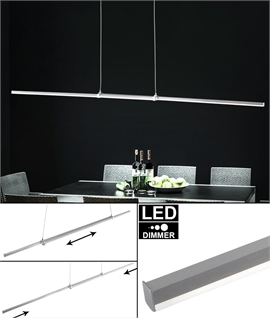 Extra Slim Suspended LED Pendant - Profile Extends