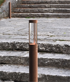 Slender Exterior Garden and Pathway Luminaire with LED Lamp