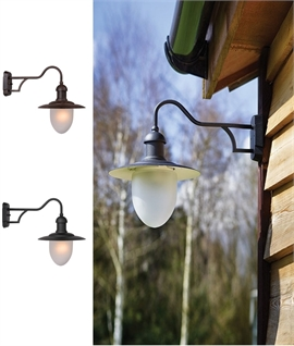 European Styled Bracket Lantern with Frosted Glass Diffuser